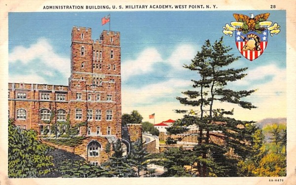 Administration Building West Point, New York Postcard