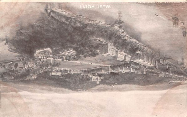 Birds Eye View West Point, New York Postcard