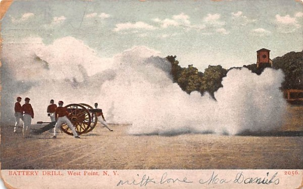 Battery Drill West Point, New York Postcard