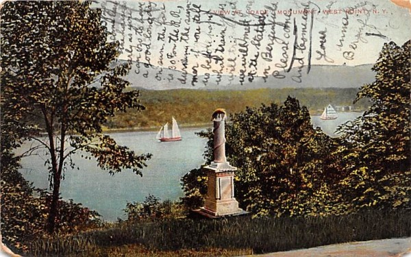 Dade Monument West Point, New York Postcard