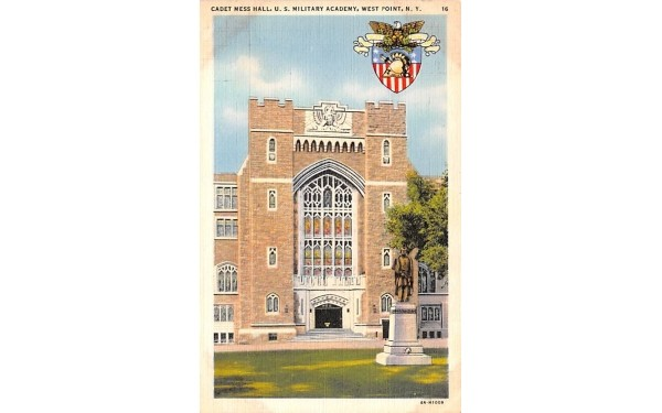 Cadet Mess Hall West Point, New York Postcard