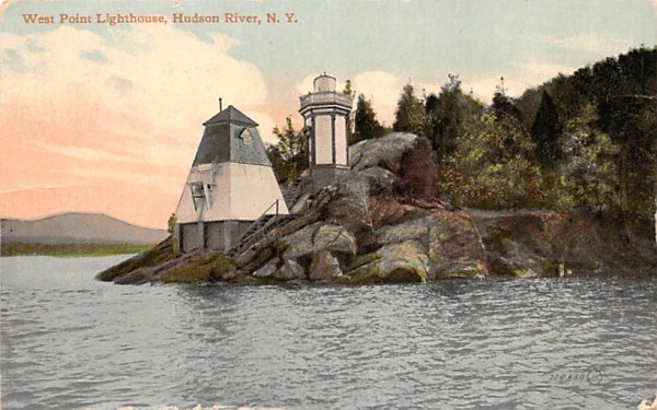 West Point Light House New York Postcard
