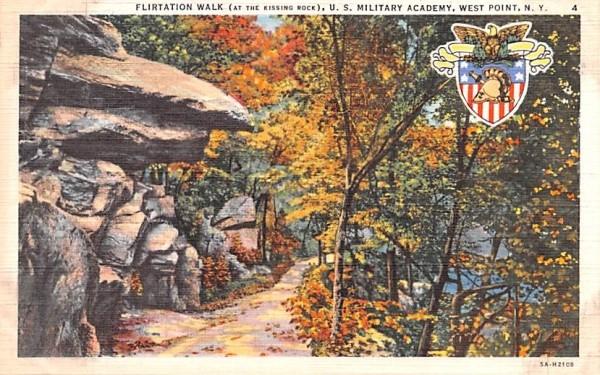 Flirtation Walk West Point, New York Postcard