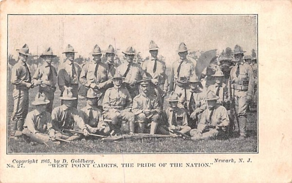 West Point Cadets New York Postcard