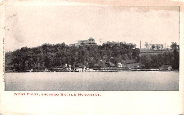 Showing Battle Monument West Point, New York Postcard