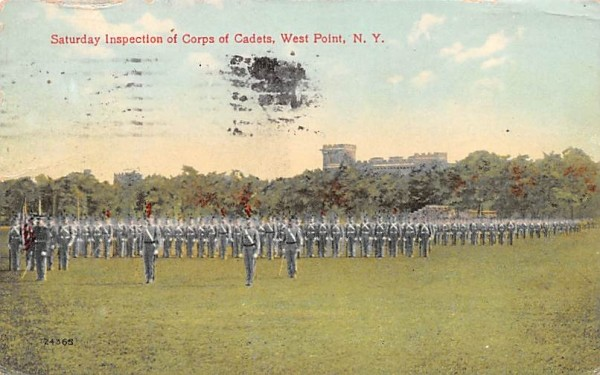 Saturday Inspection of Corps of Cadets West Point, New York Postcard