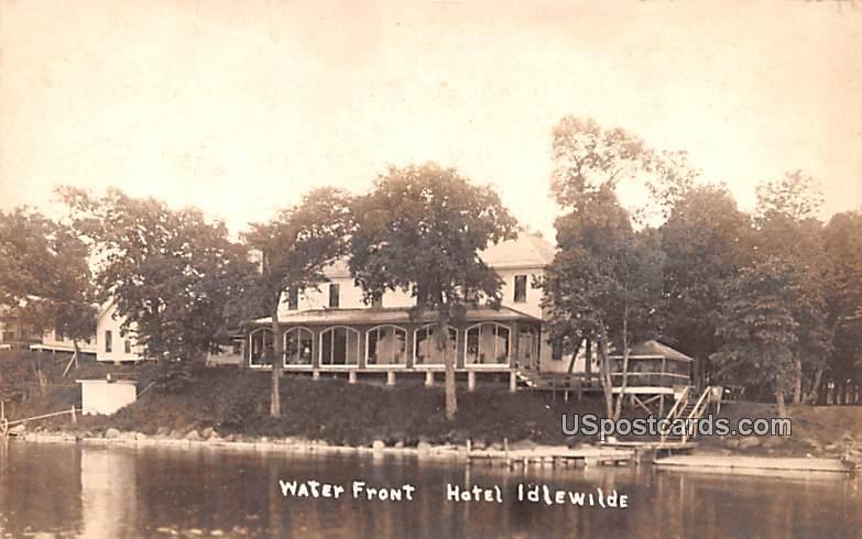 Waterfront Hotel Idlwilde - Watkins Glen, New York NY Postcard