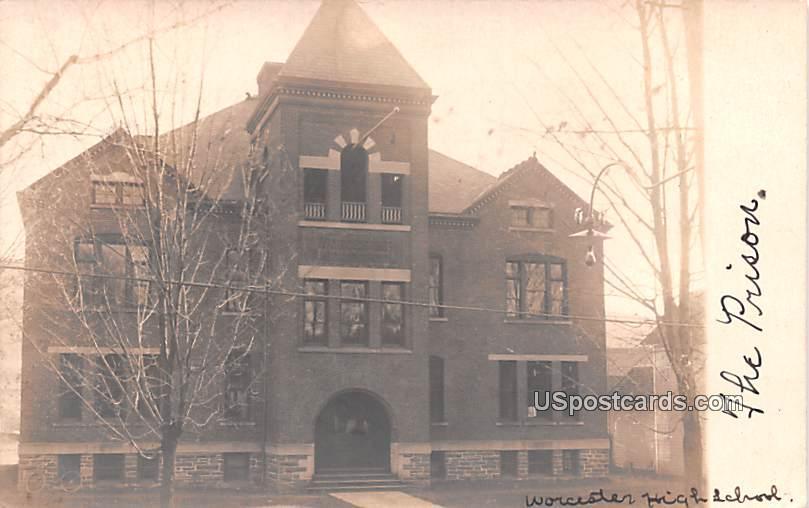 Worcester High School - New York NY Postcard
