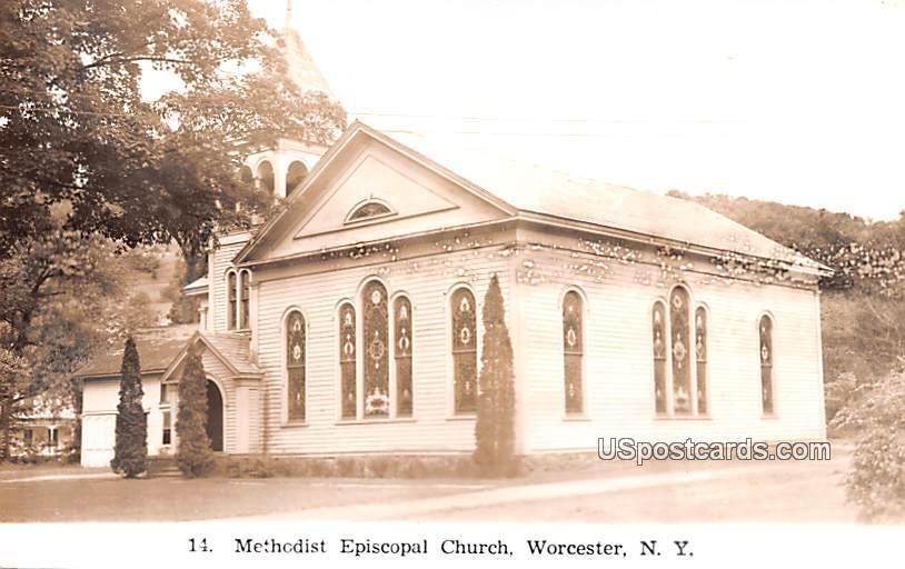 Methodist Episcopal Church - Worcester, New York NY Postcard