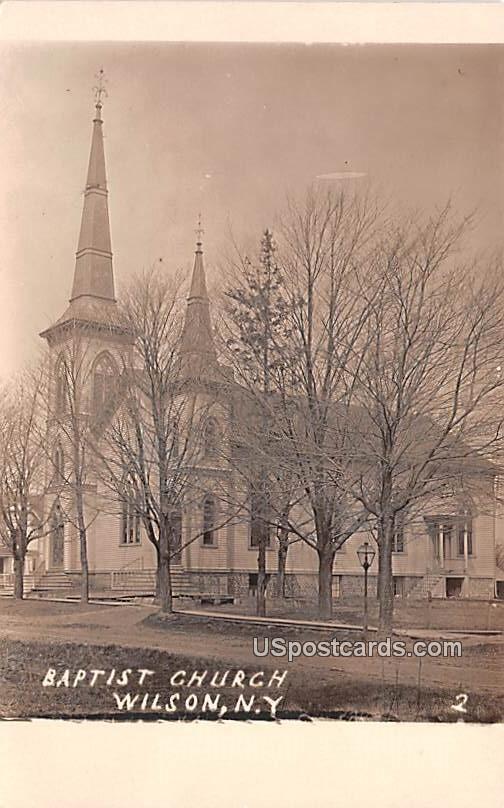 Baptist Church - Wilson, New York NY Postcard
