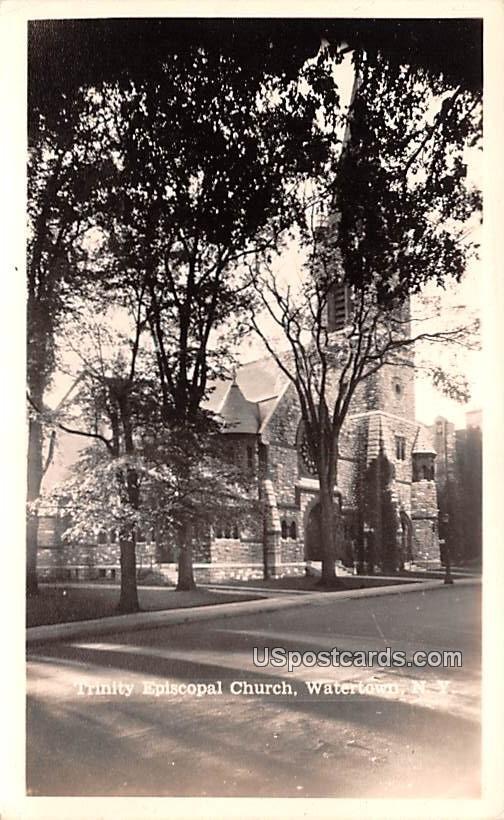 Trinity Episcopal Church - Watertown, New York NY Postcard