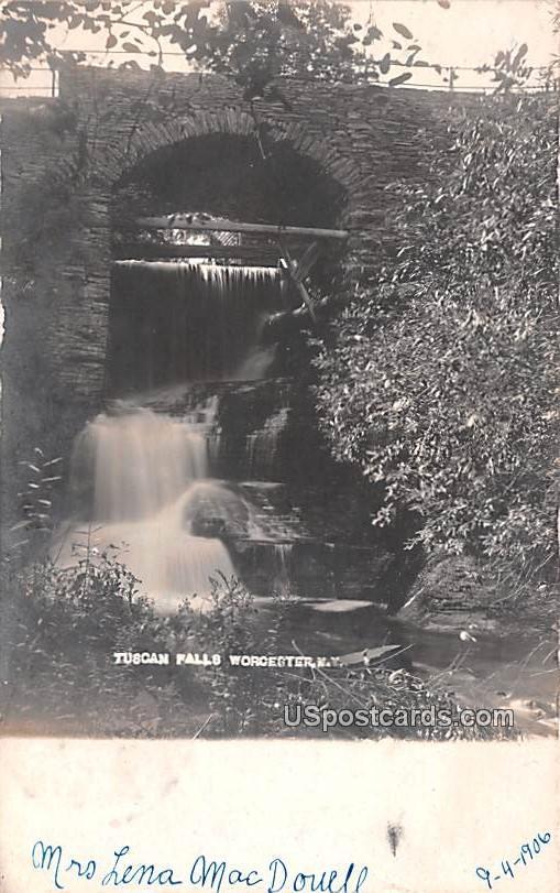 Tuscan Falls - Worcester, New York NY Postcard