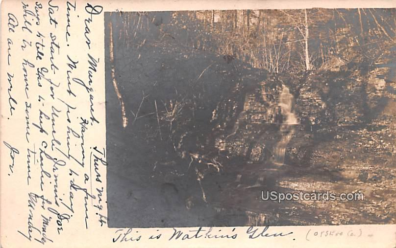 Waterfall - Watkins Glen, New York NY Postcard