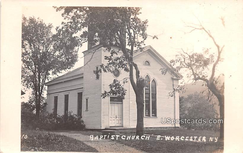 Baptist Church - Worcester, New York NY Postcard