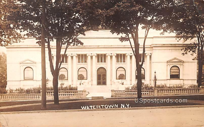 Memorial Library - Watertown, New York NY Postcard