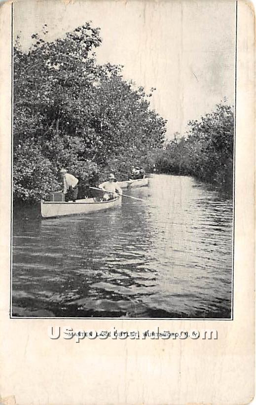 Masten Lake Outlet - Wurtsboro, New York NY Postcard