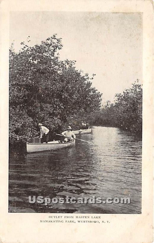 Outlet from Masten Lake - Wurtsboro, New York NY Postcard