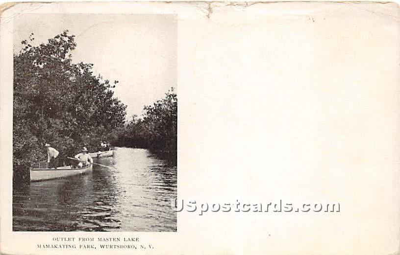 Outlet from Masten Lake - Wurtsboro, New York NY Postcard