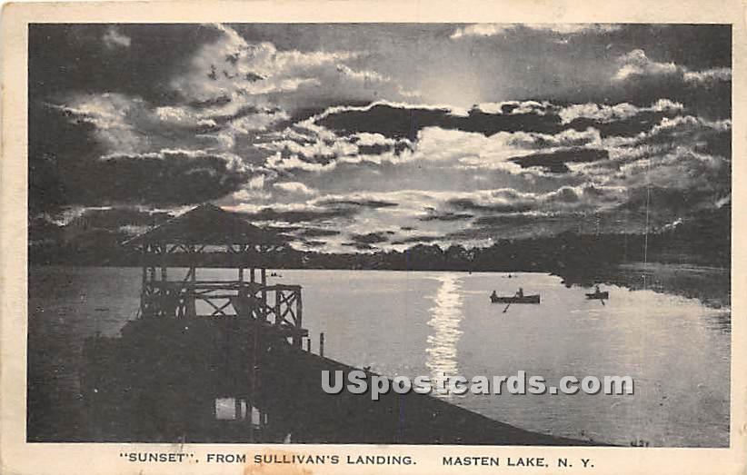 Sunset from Sullivan's Landing - Wurtsboro, New York NY Postcard