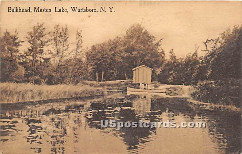 Bulkhead - Wurtsboro, New York NY Postcard