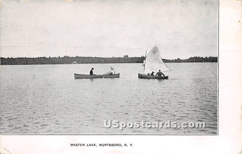 Masten Lake - Wurtsboro, New York NY Postcard