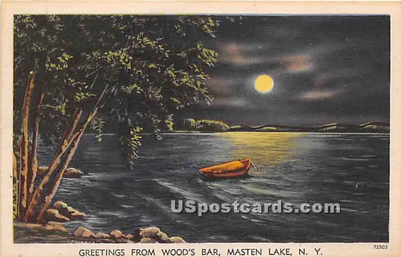 Wood's Bar - Wurtsboro, New York NY Postcard