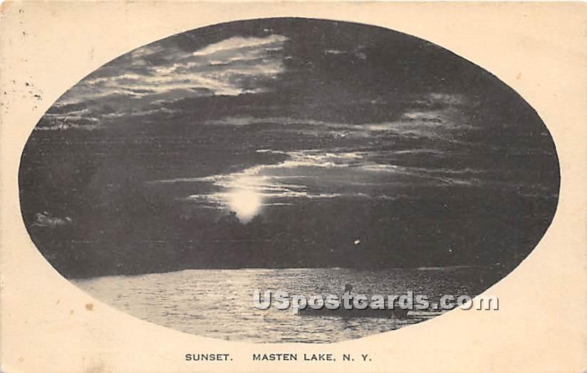 Sunset - Wurtsboro, New York NY Postcard