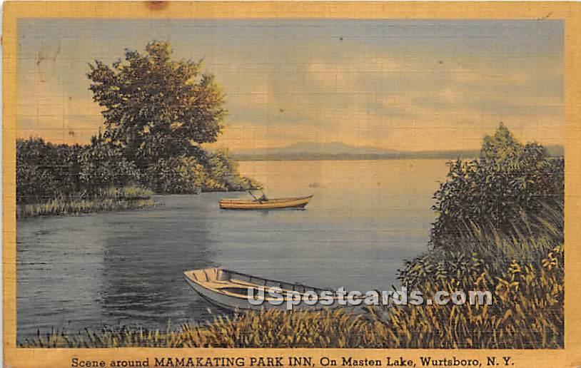 Mamakating Park Inn - Wurtsboro, New York NY Postcard