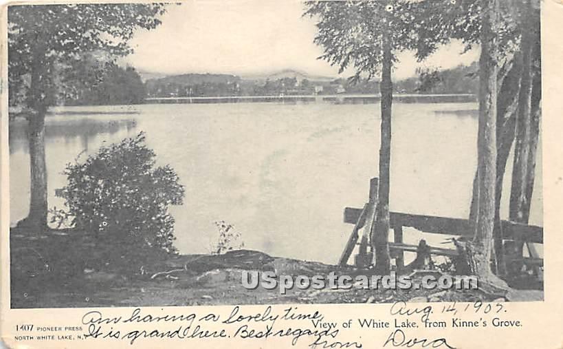 White Lake - New York NY Postcard