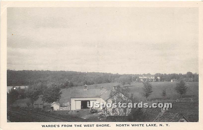 Warde's From the West Shore - White Lake, New York NY Postcard