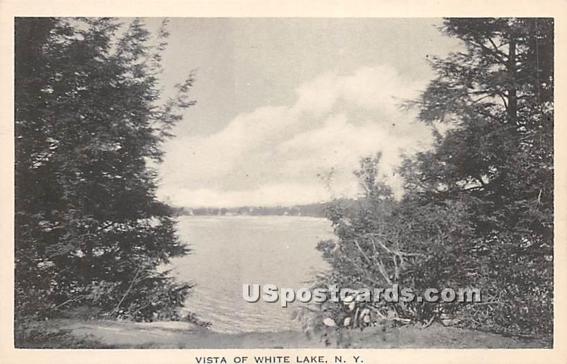 Vista - White Lake, New York NY Postcard