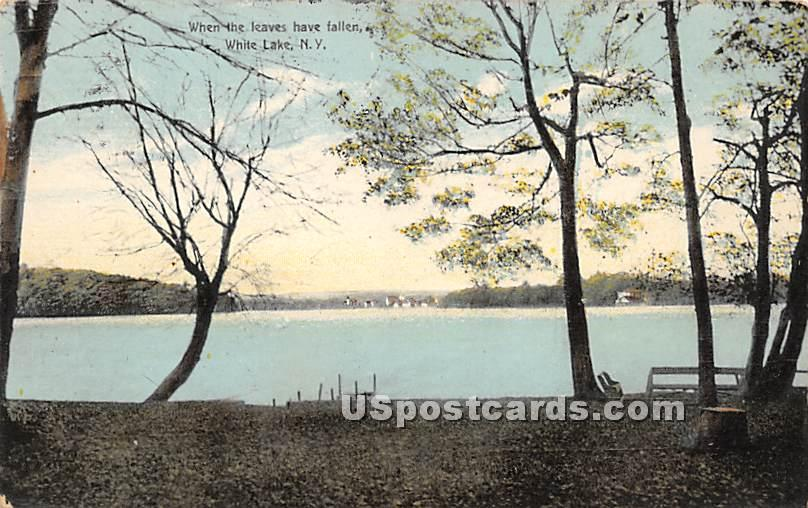 When the Leaves have Fallen - White Lake, New York NY Postcard