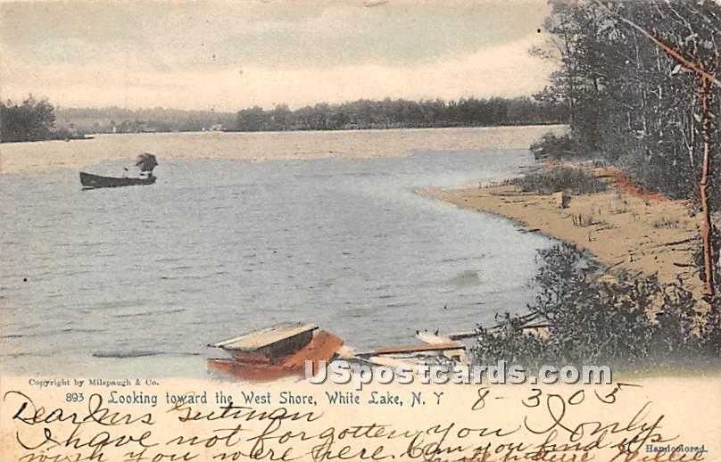 Looking toward the West Shore - White Lake, New York NY Postcard