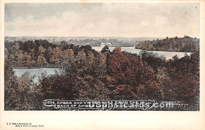 Amber & White Lake - New York NY Postcard