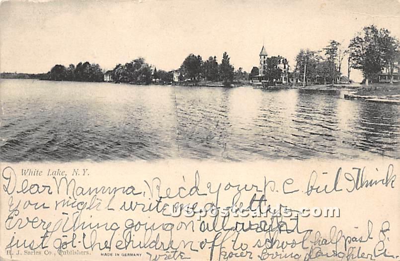 Water View - White Lake, New York NY Postcard