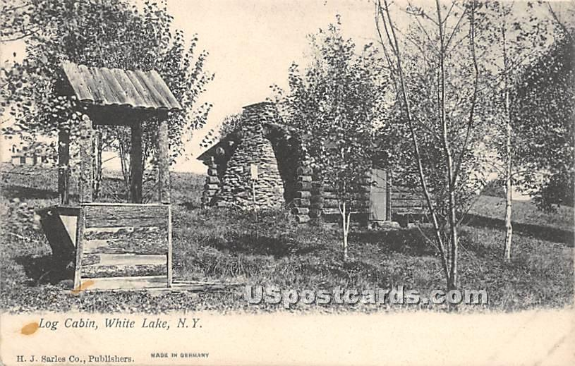 Log Cabin - White Lake, New York NY Postcard