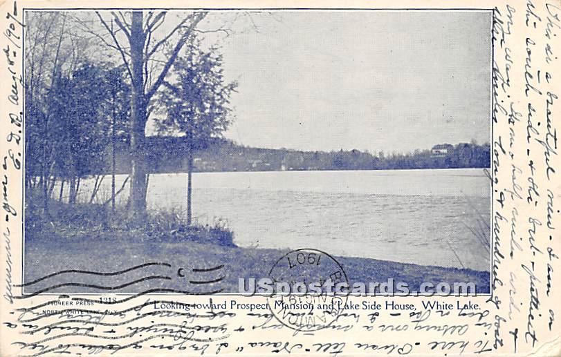 Looking Toward Prospect Mansion - White Lake, New York NY Postcard