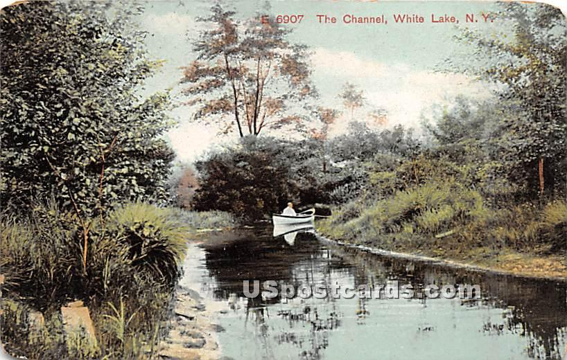The Channel - White Lake, New York NY Postcard
