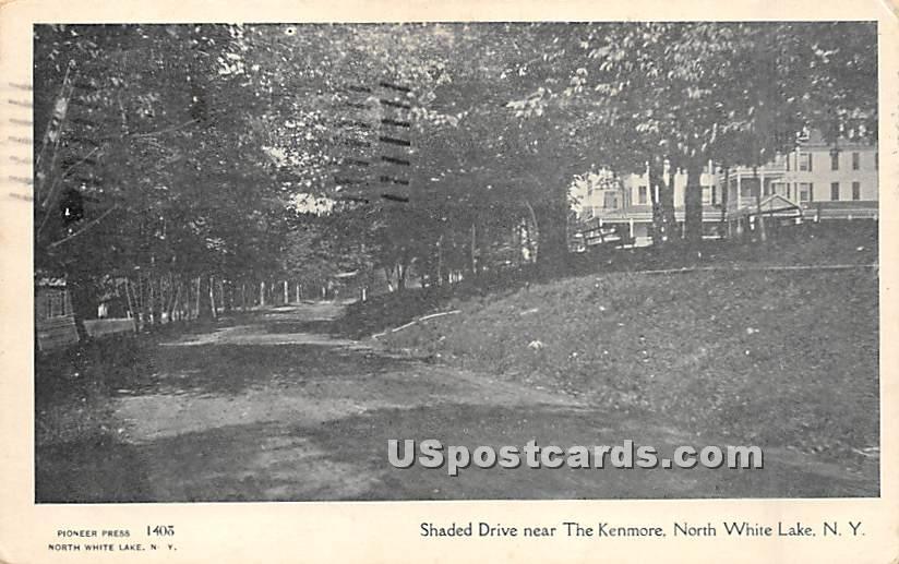 Shaded Drive Near The Kenmore - White Lake, New York NY Postcard