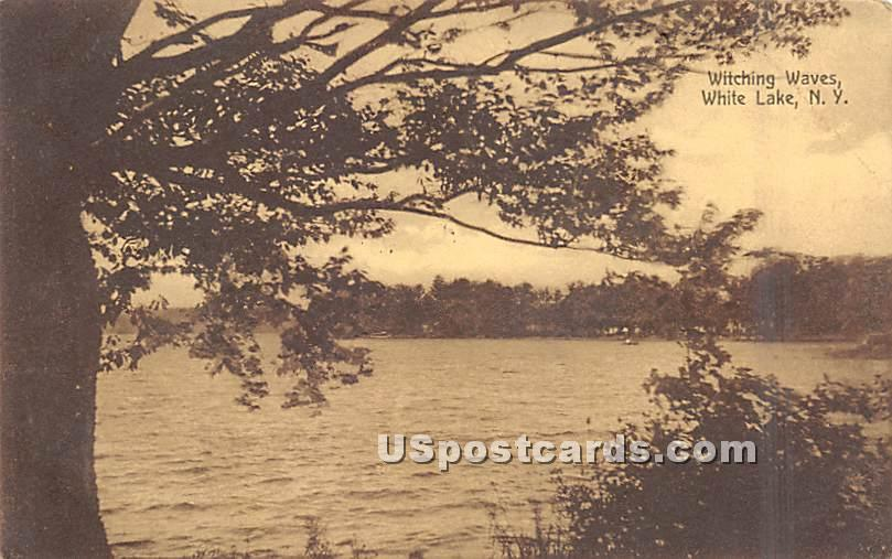 Witching Waves - White Lake, New York NY Postcard