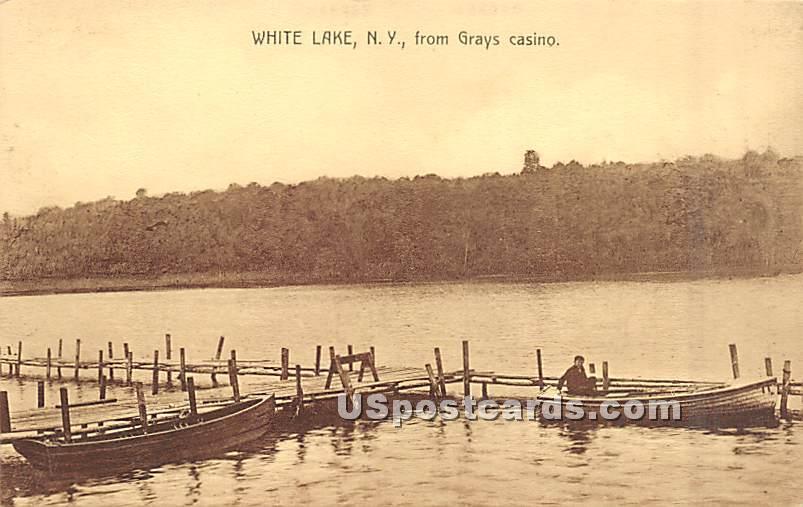 From Grays Casino - White Lake, New York NY Postcard