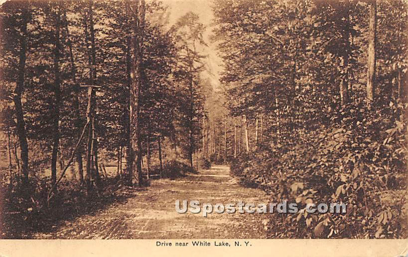 Drive - White Lake, New York NY Postcard