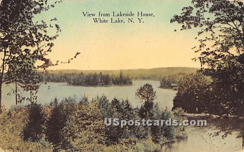 View from Lakeside House - White Lake, New York NY Postcard