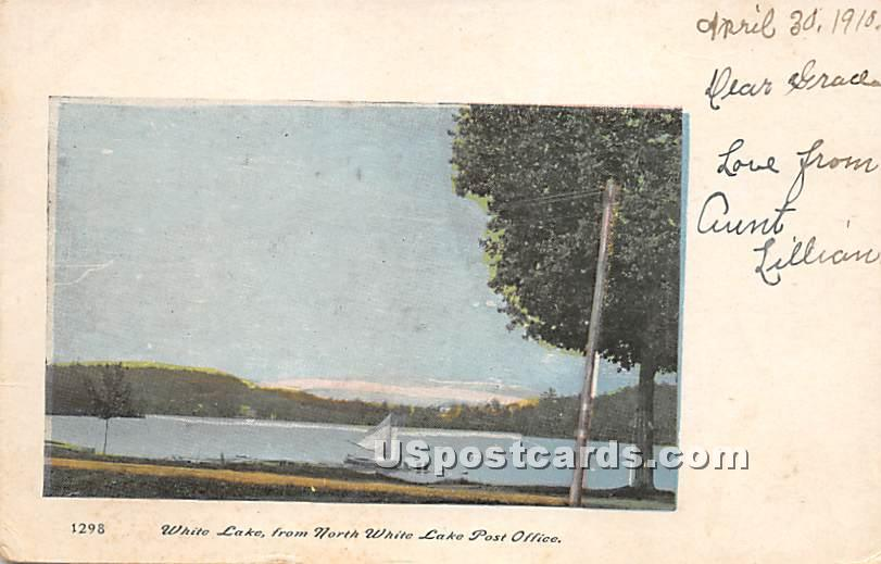 From North White Lake Post Office - New York NY Postcard