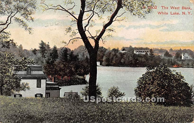 The West Bank - White Lake, New York NY Postcard