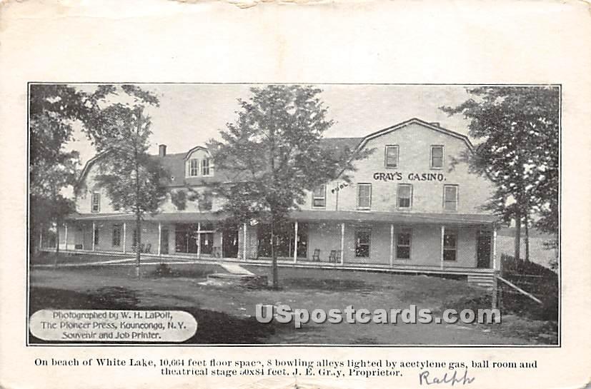Gray's Casino - White Lake, New York NY Postcard
