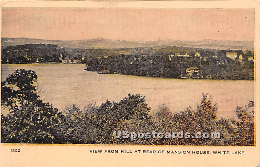 View from Hill at Rear of Mansion House - White Lake, New York NY Postcard