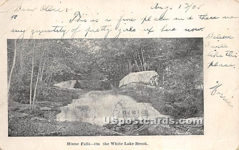 Minne Falls - White Lake, New York NY Postcard