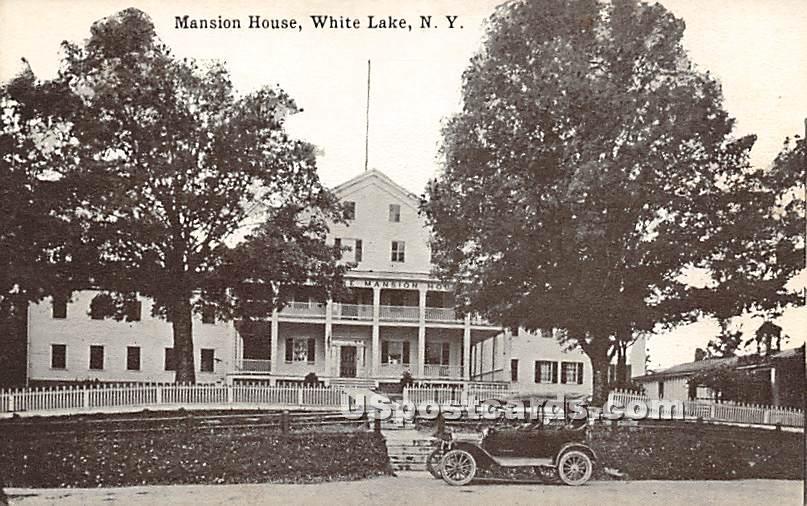 Mansion House - White Lake, New York NY Postcard
