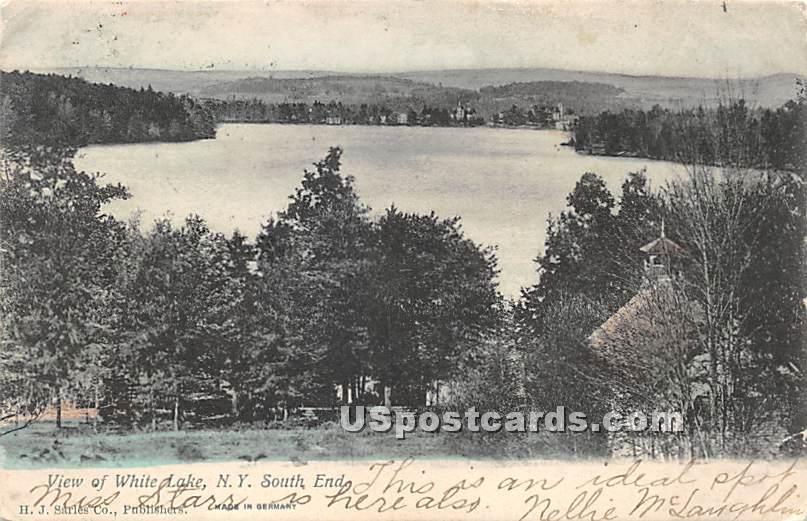 View of Lake - White Lake, New York NY Postcard